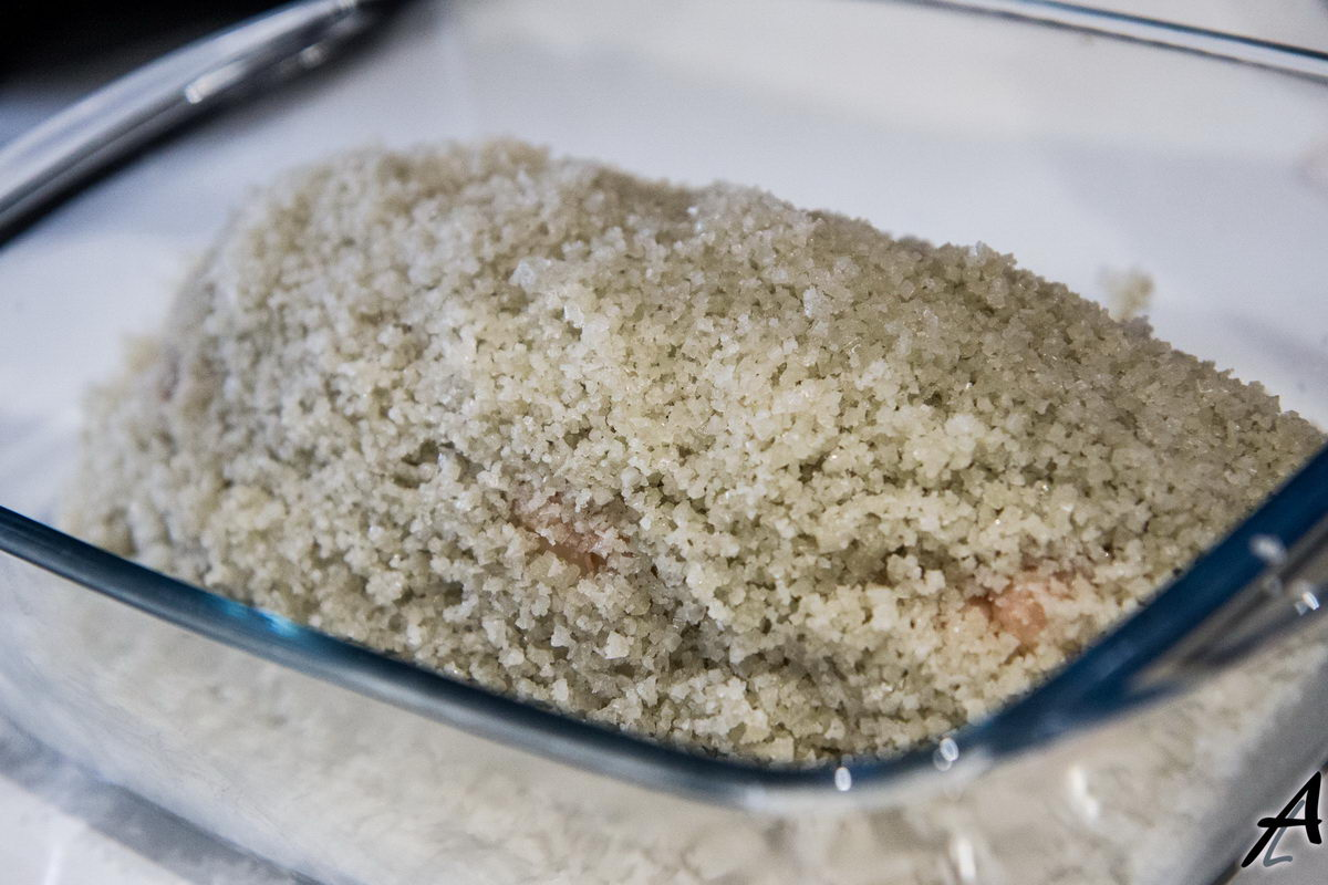 Recouvrir le magret complètement de gros sel 2